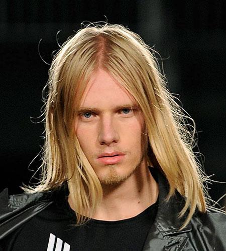 Mens Straight Hairtyle, Long Hair World Summer