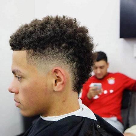 Mohawk Hairtyle for Men, Fade Hair Mohawk Look