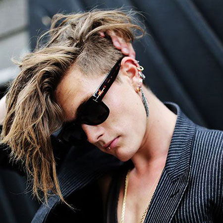 Punk Hairtyle for Guys, Long Mohawk Undercut Hair