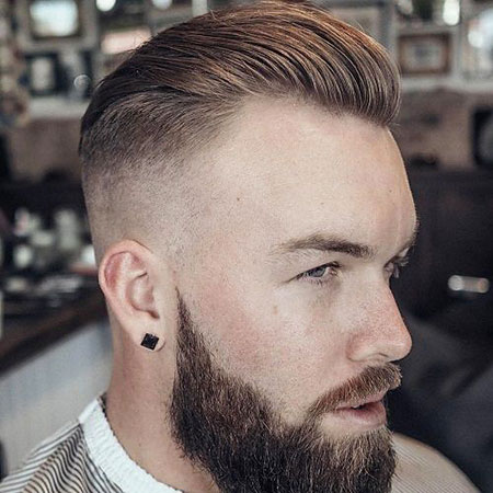 Fade Back Slick Haircuts