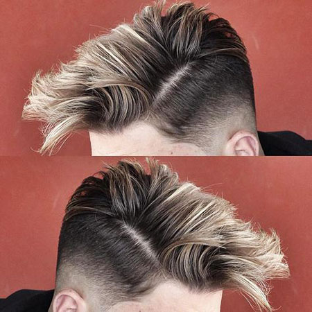 Long Top Men Hair with Blonde Color, Hair Hairtyles Nape Undercut