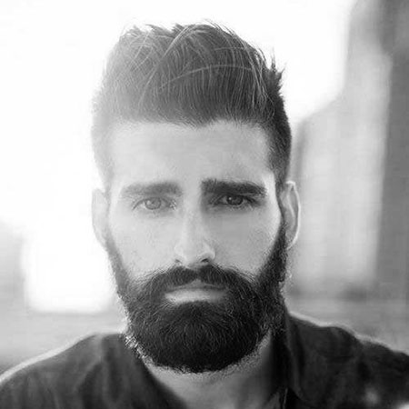 Short Hairtyle for Thick Hair, Beard Styles Thick Short