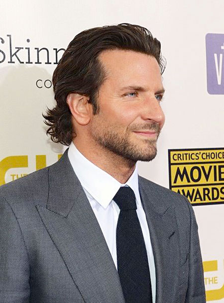 Bradley Cooper Medium Haircut, Long Trendy Jackman Butler