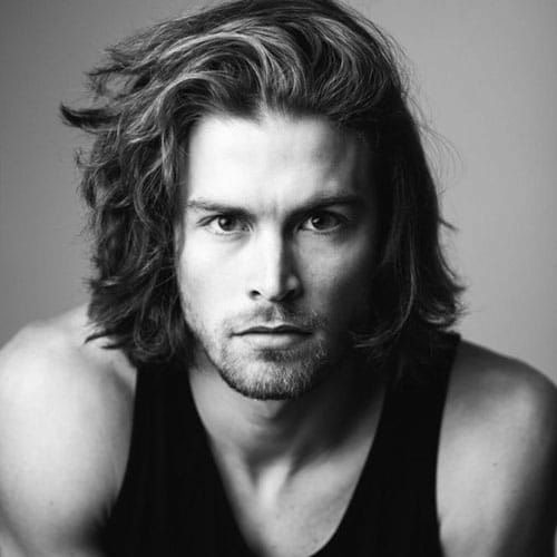 Shoulder Length Mens Hair