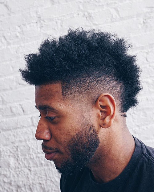 Curly Mohawk Fade