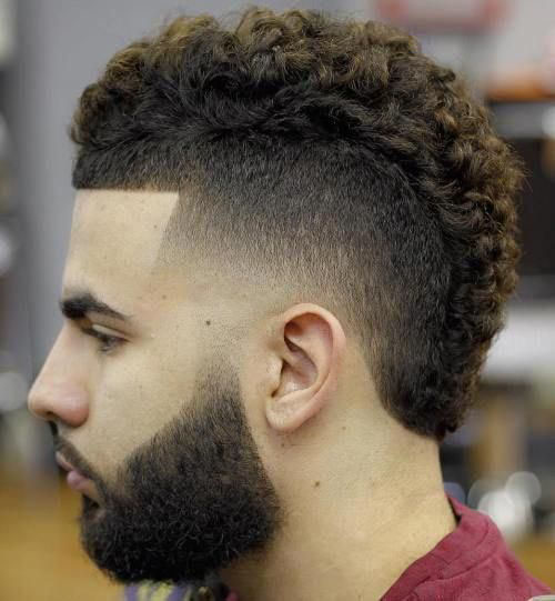 Curly Fade Mohawk